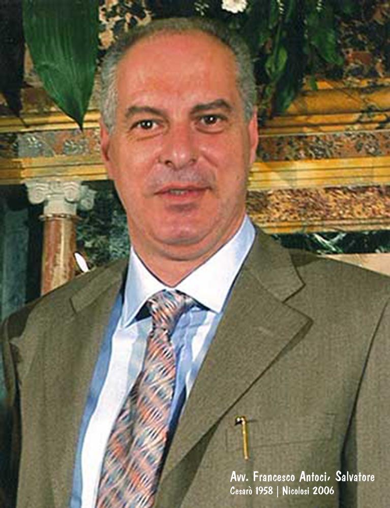 Francesco Antoci | Avvocato e politico in Nicolosi | 2006